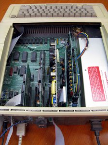 Opened Apple IIe